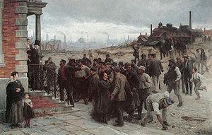 La grève - peinture de Robert Koehler, 1886